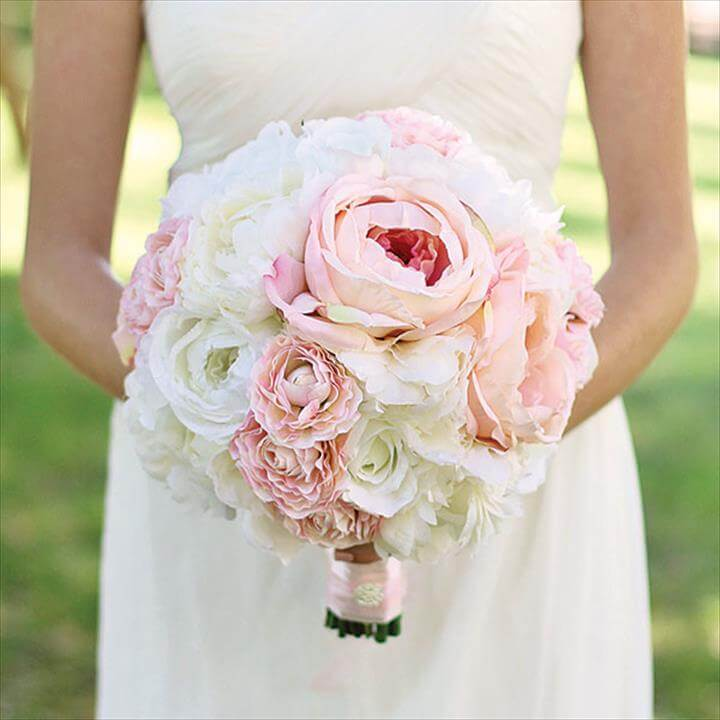 Diy Wedding Bouquet With Artificial Flowers On Wedding Flowers Diy Bridal For Your Unforgettable