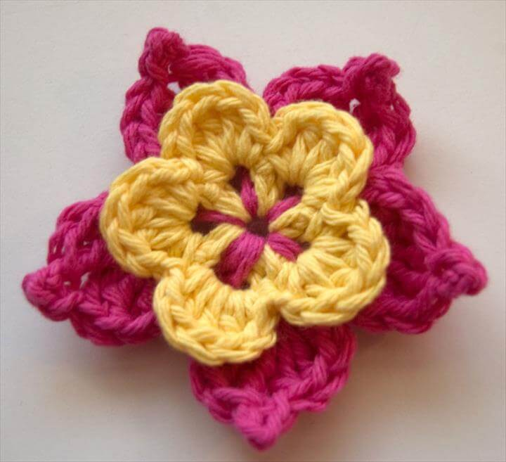 easy crochet flower, flower this flower really maximizes all those tiny leftover bits