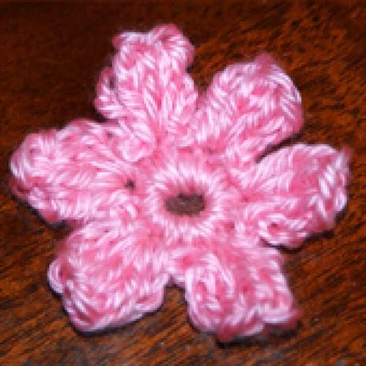 Easy Small Popcorn Flower Free Crochet Pattern