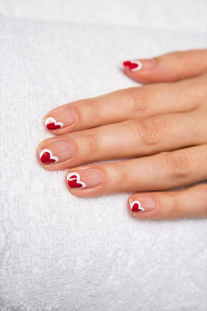 Nail Designs: Easy Nail Art Ideas. The best nail art for valentines, easy