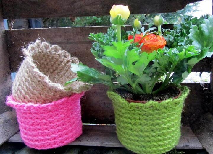 20 Free Crochet Flower Pot Patterns DIY to Make