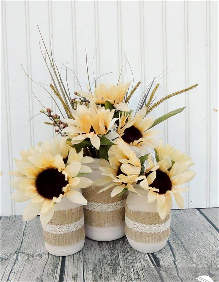 Burlap & Lace Fall Jars