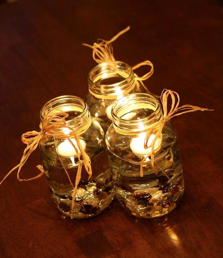 fall wedding mason jar centerpieces