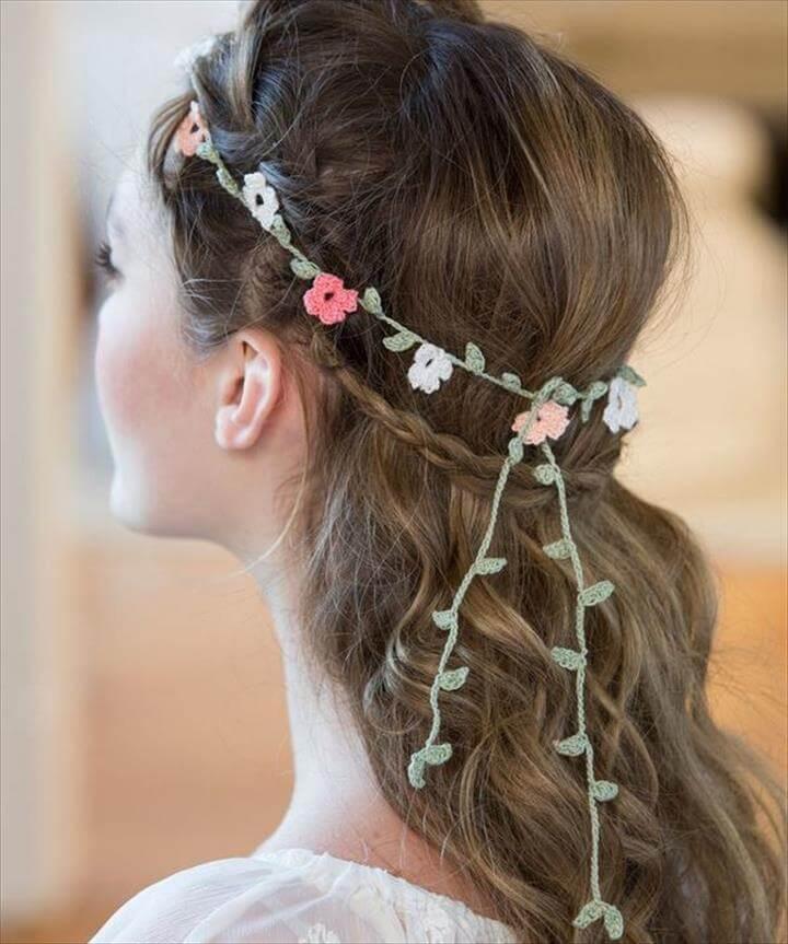 Floral Crochet Headband Pattern
