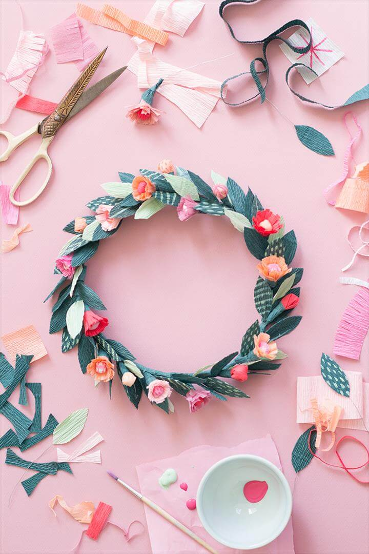 Image result for DIY flower CROWN design DIY Paper spring floral crown