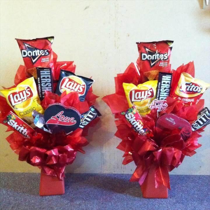 Floral food bouquets
