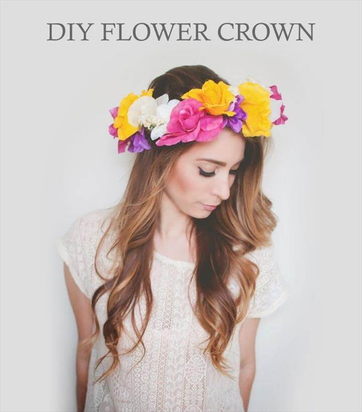DIY Flower Crown Tutorial | Wonder Forest: Design Your Life. (with faux flowers