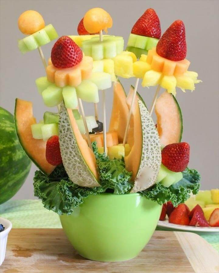 fruit bouquet DIY gifts for Mothers Day ideas