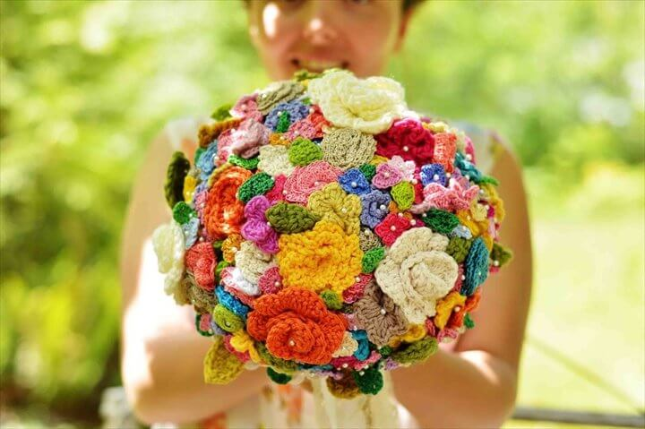 Gorgeous Crochet Bouquet