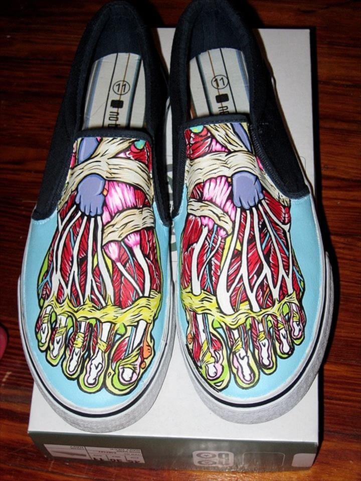 hand painted shoes-Fun, Funky, Cool Hand Painted Shoes