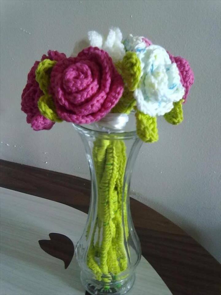Crochet bouquet and Bouquets