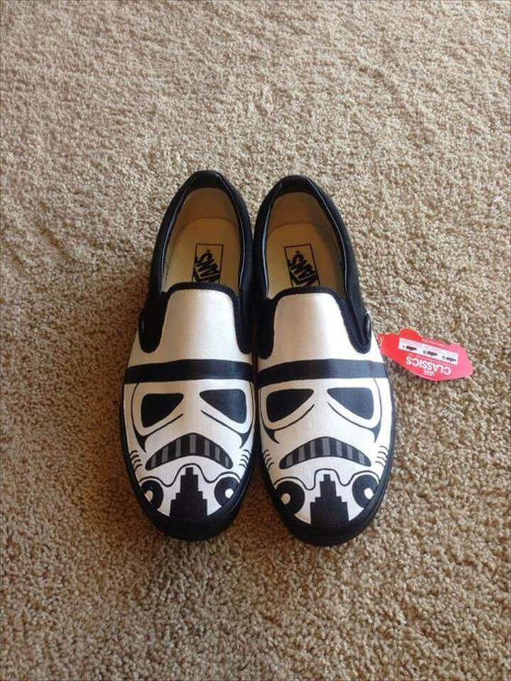 Hand-painted Stormtrooper Vans