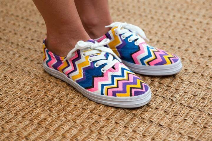 Hand-Painted Summer Sneakers
