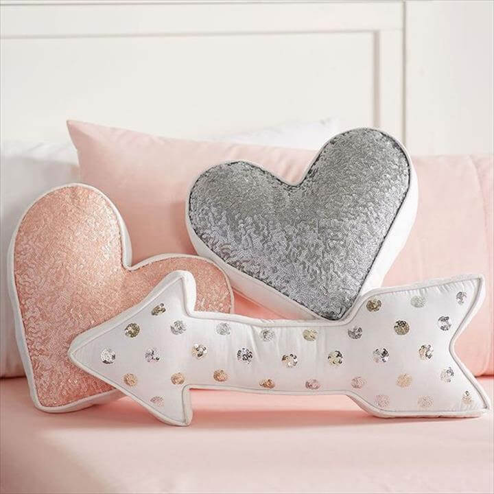 Sequin Shaped Pillows