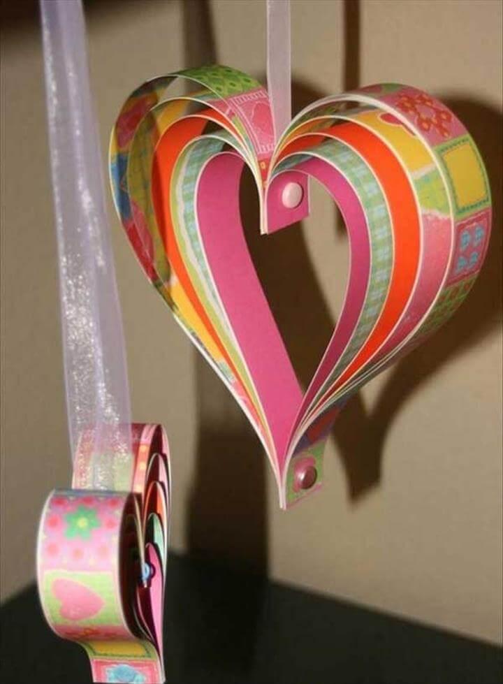 Valentine Countdown-paper Hearts