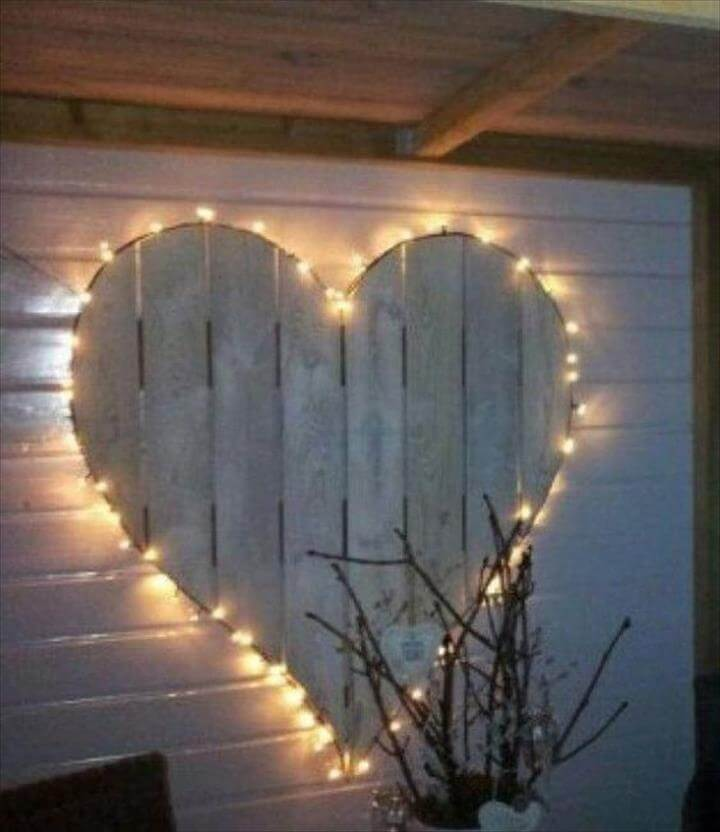 Christmas lights arranged to make a heart shape. Perfect for the holidays or even during