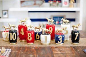 Race Horse Mason Jar Centerpiece