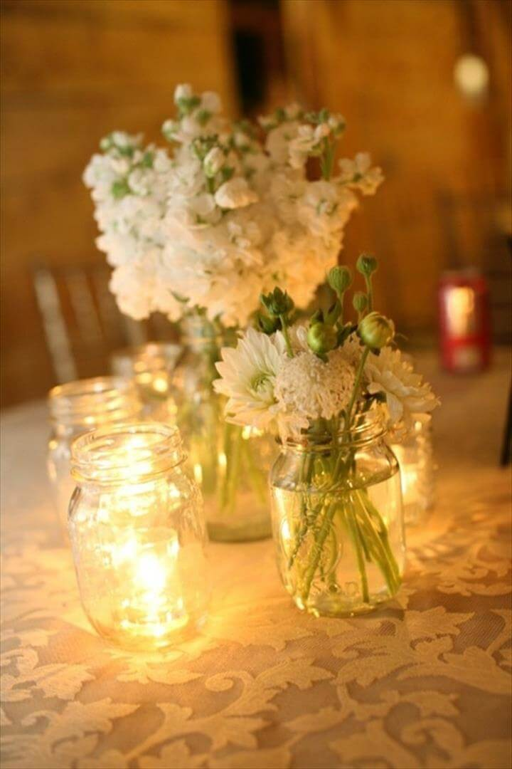 68 Best Amp Cheap Mason Jar Centerpiece Ideas
