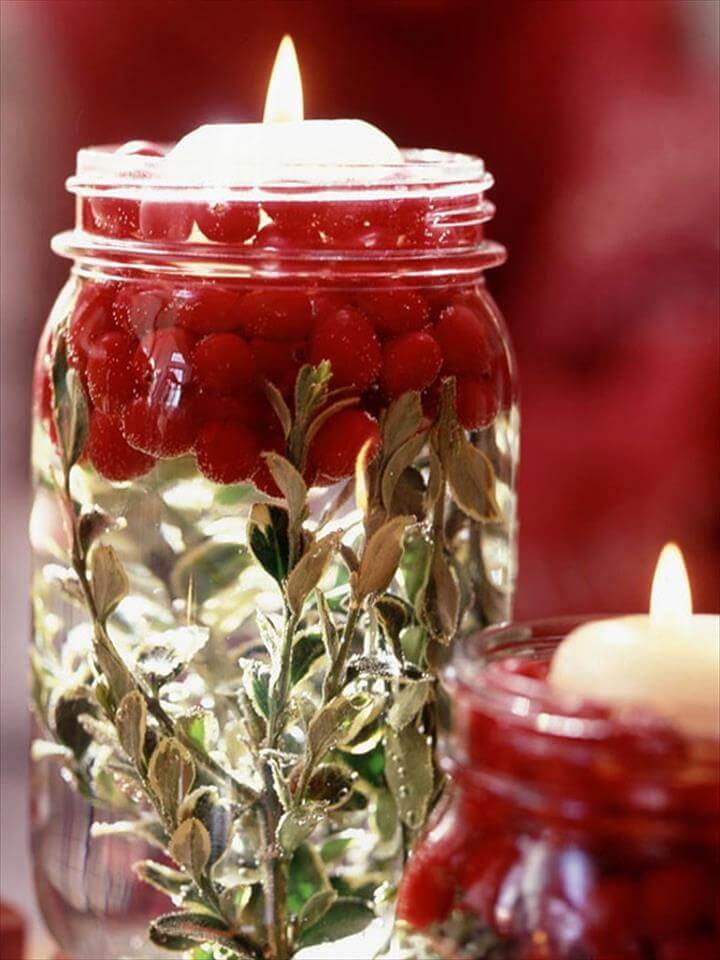 Mason Jar Centerpieces For Winter Weddings Decorating Ideas