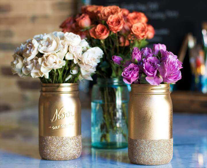 Mason Jar Centerpiece For Wedding Shower