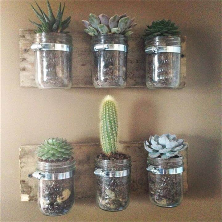14 Do It Yourself Mason Jar Planters Diy To Make
