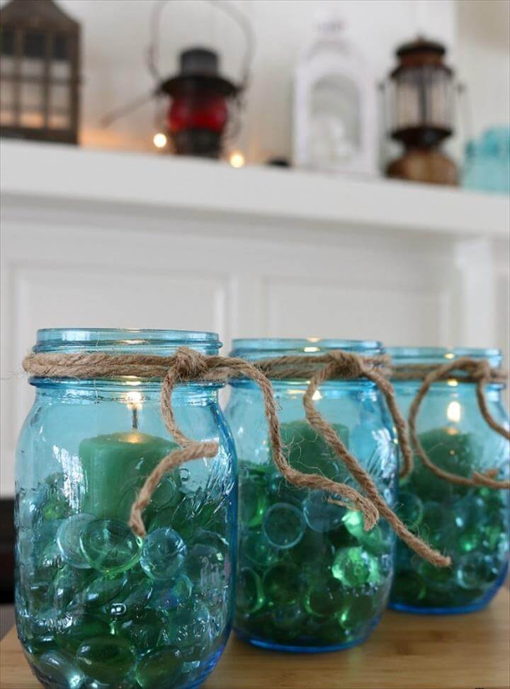 Spruce up your home, decorate for a party or make these Mason Jar Centerpieces for
