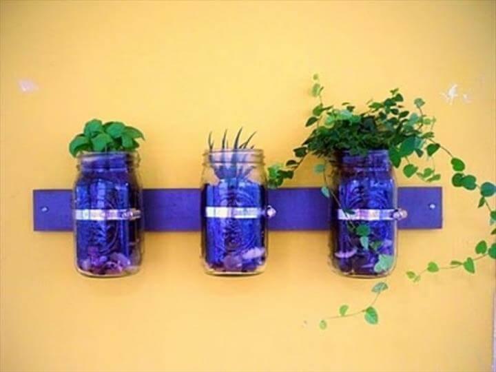 Mason Jar Wall Garden Mason Jar Wall Planter Diy Mason Jar Wall Garden Mason Jar Wall