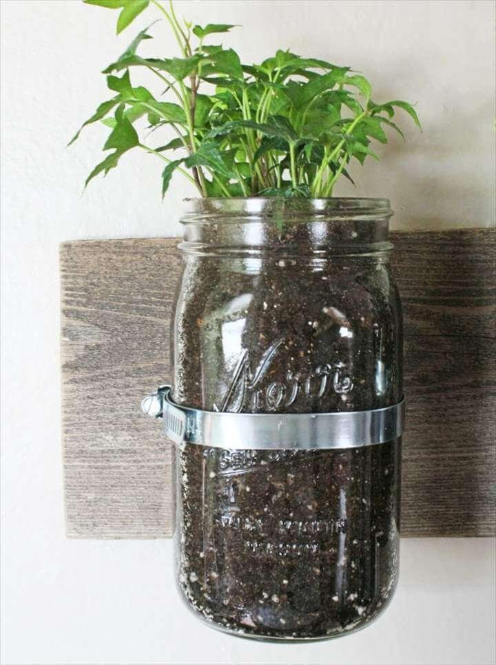 14 Do It Yourself Mason Jar Planters Diy To Make