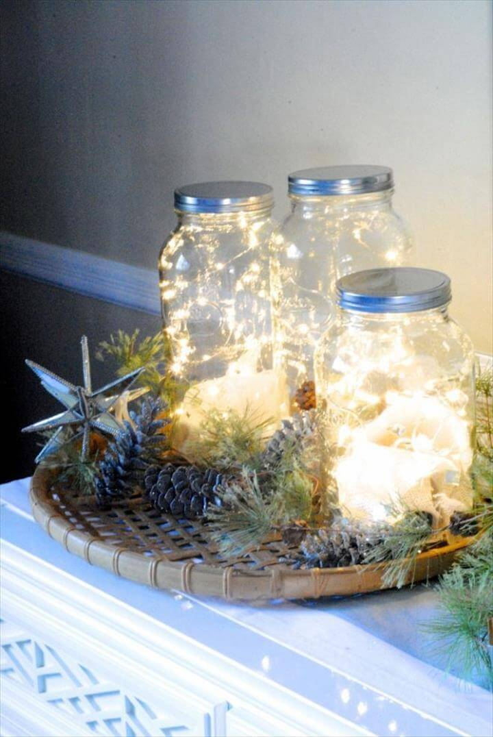 mason jars christmas table