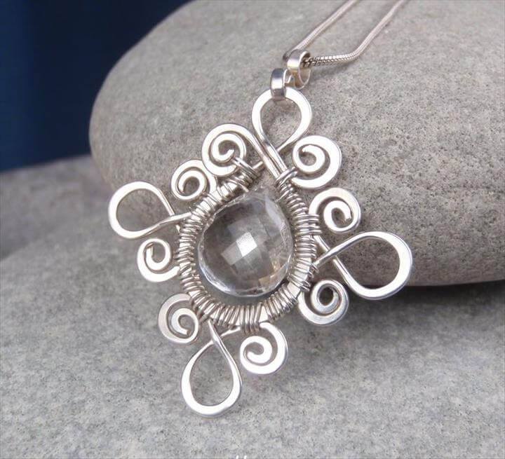 New wire jewelry tutorial - Sprial Loop Frames