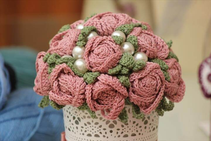 Crochet. Remember the crochet flower bouquet ...