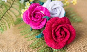 Crochet Rose Bud