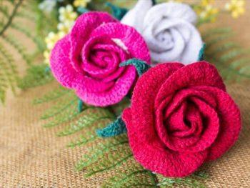 Crochet Rose Bud