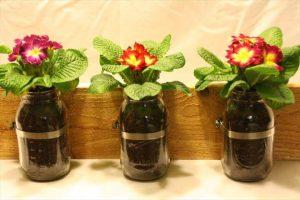 good looking mason jar planter