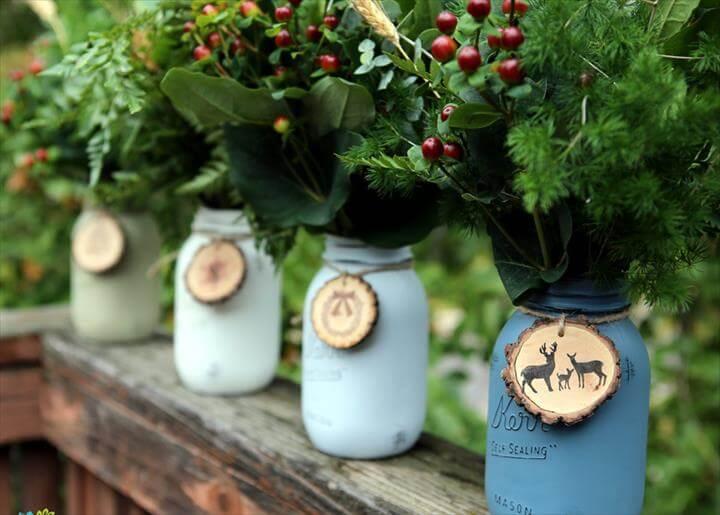 Mason Jar Christmas Centerpiece