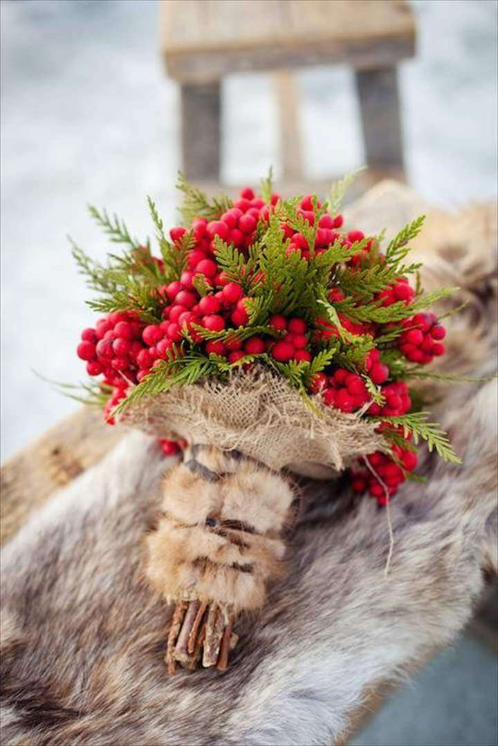 Red Berry Boquet ... Perfect for a Winter Wedding