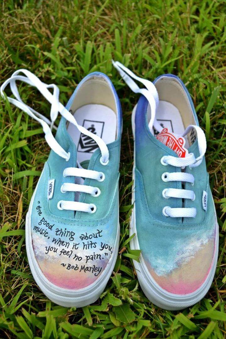 12 Gorgeous Hand Painted Shoe Sneaker Ideas