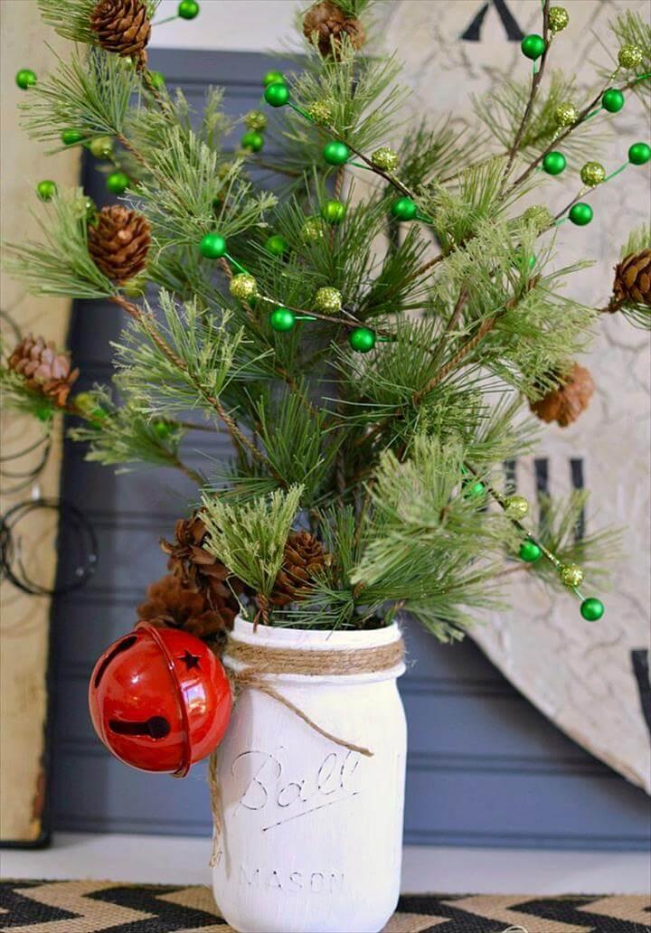 Einfache Einmachglas-Weihnachtsdekoration. Schnell, einfach und preiswert!