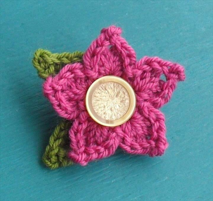 Pointy Petal Flower | Crochet with Raymond FREE PATTERN crochet FLower