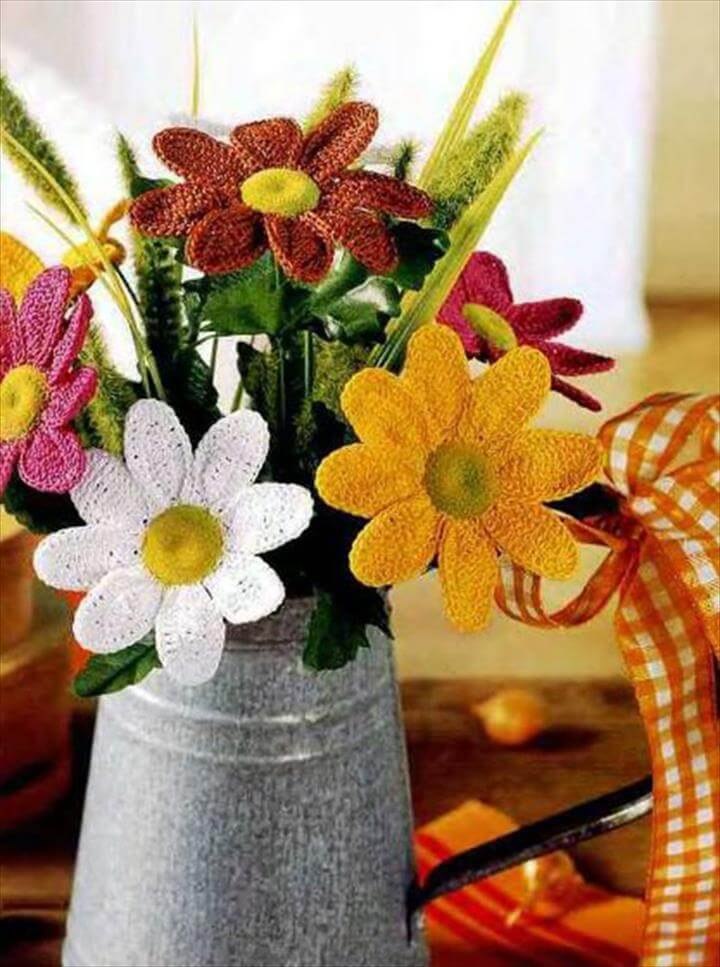 Crochet Flower Bouquets | Beautiful Crochet Stuff