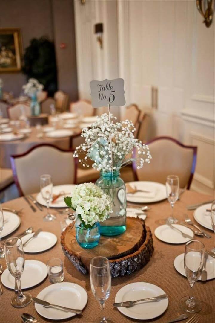 Rustic, mason jar centerpiece - Floral Architecture (Ocala)