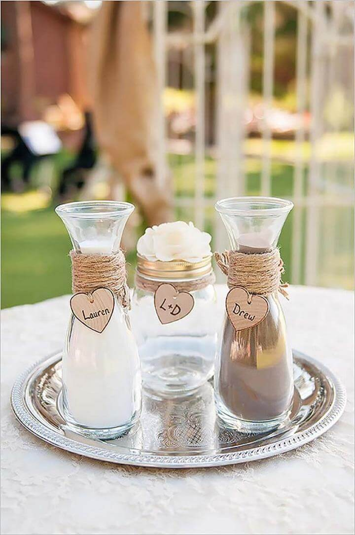 Mason jar wedding or party ideas diy to make