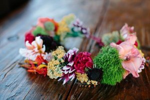 colorful flower crown design