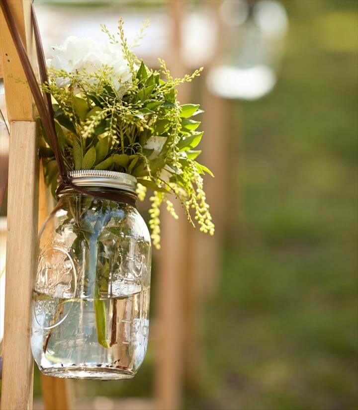 beautiful mason jar wedding centerpieces for your reception or ceremony!