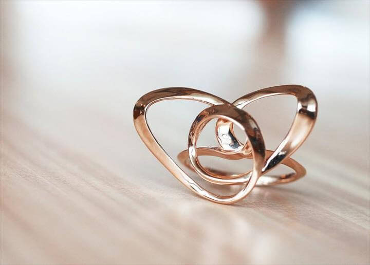 Wire Heart Ring, Custom Jewellery, wire sculpture, Contemporary Ring, wire art, 3d printed fine art, abstract ring, unique birthday gifts