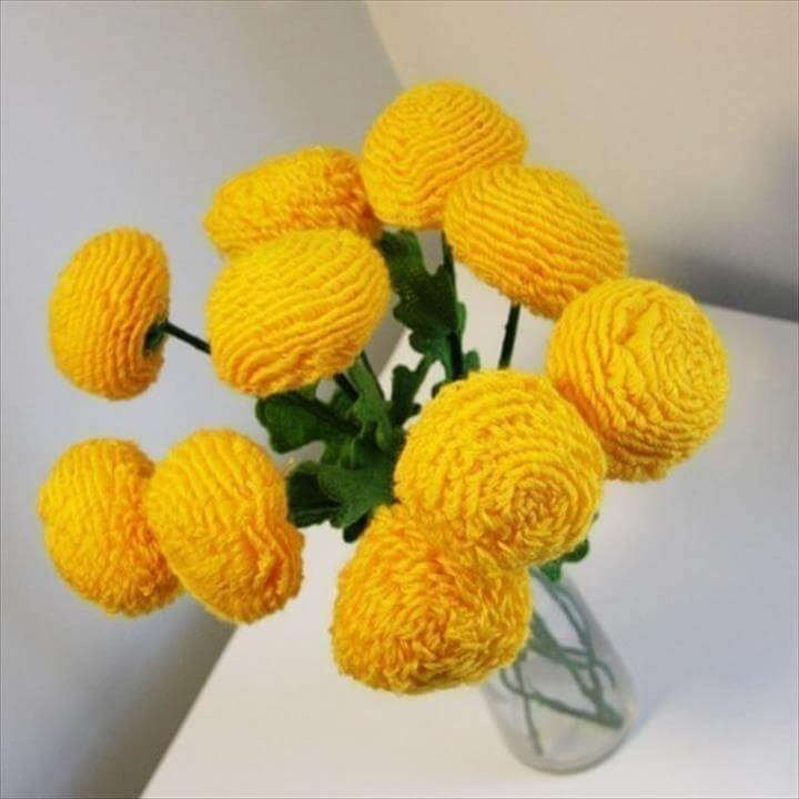 Items similar to Crochet flowers - Home Deco - Table Set - Bouquet