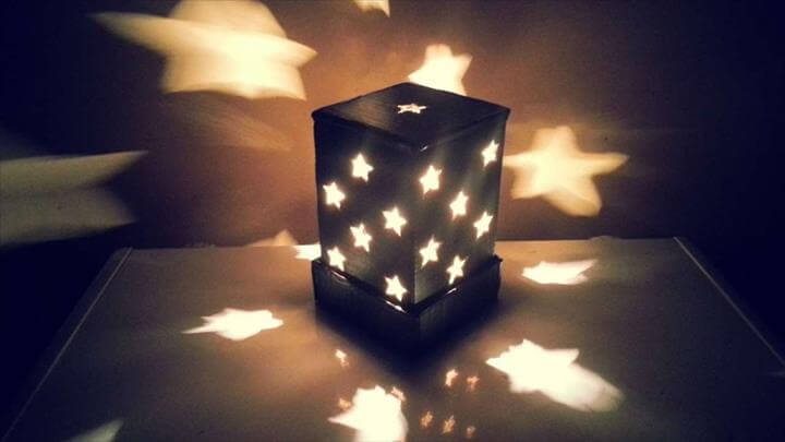 A Starry Cardboard Lampshade