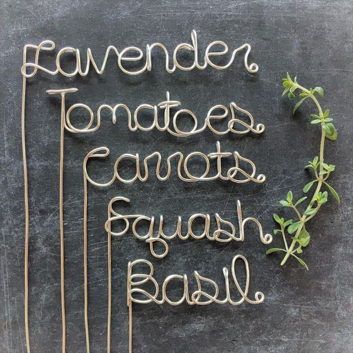 Garden Markers - Garden Stakes - Wedding Center Piece - Plant Markers - Plant