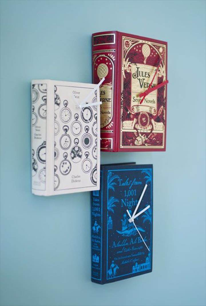 Book clocks- need clock gear, exacto knife and book that you are willing to