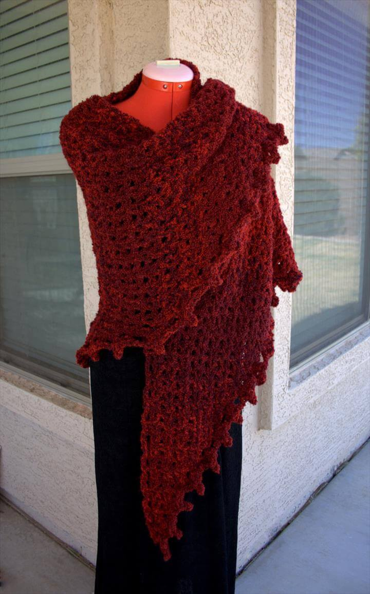 18 quick amp easy crochet shawl pattern